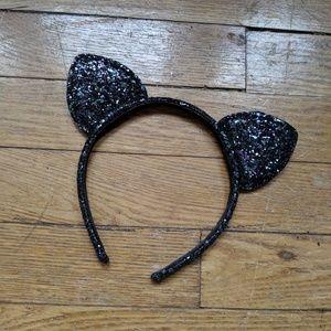 New glitter Black cat Ears